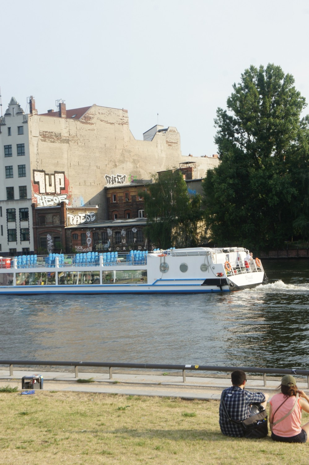 Relaxing on the Spree River bank