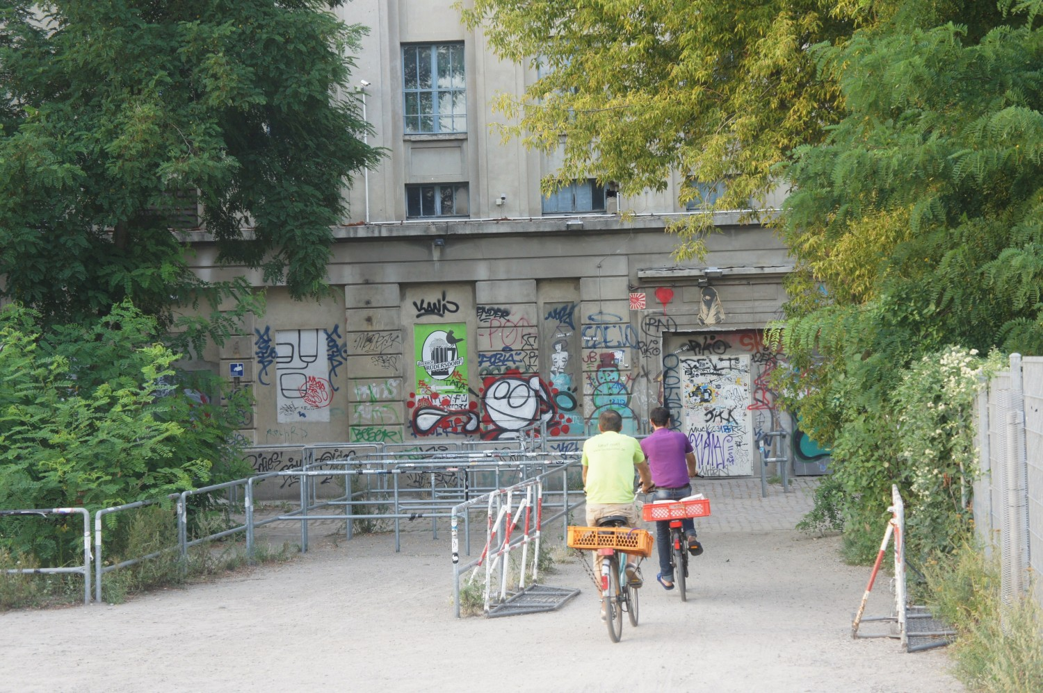 Don't judge a book by its cover; this is actually the entrance to one of the world's most famous techno clubs; Berghain