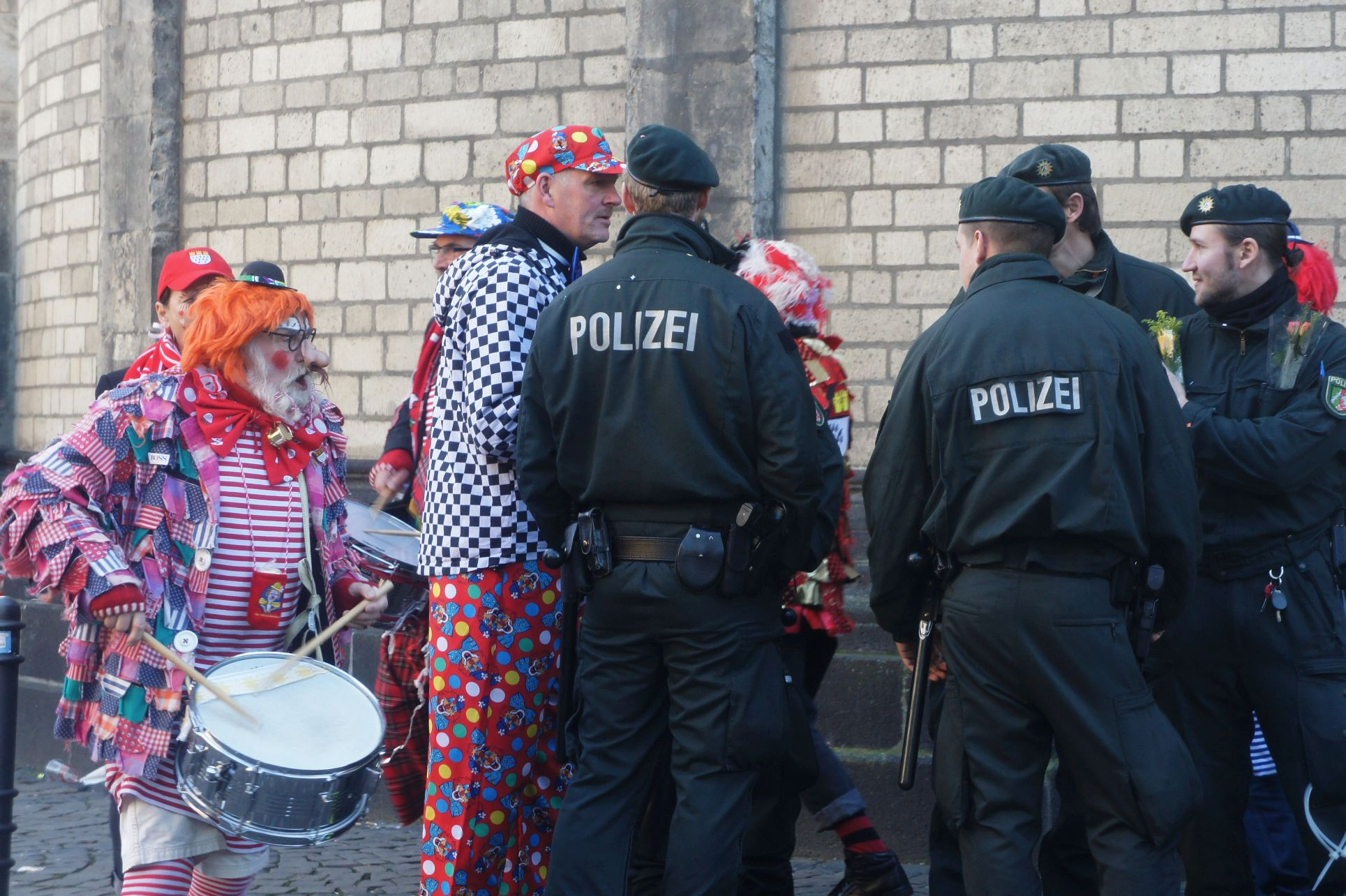 Making sure Die Polizei do not miss out on the fun.