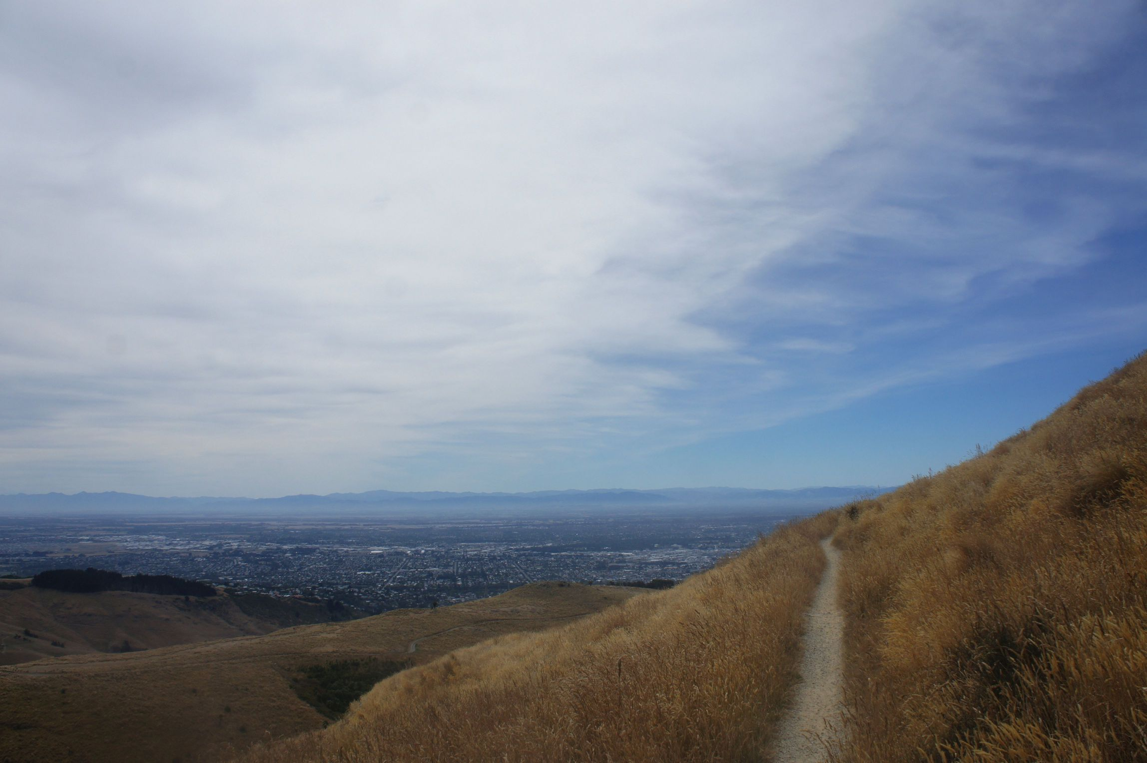 Looking out over Christchurch from the Port Hills.