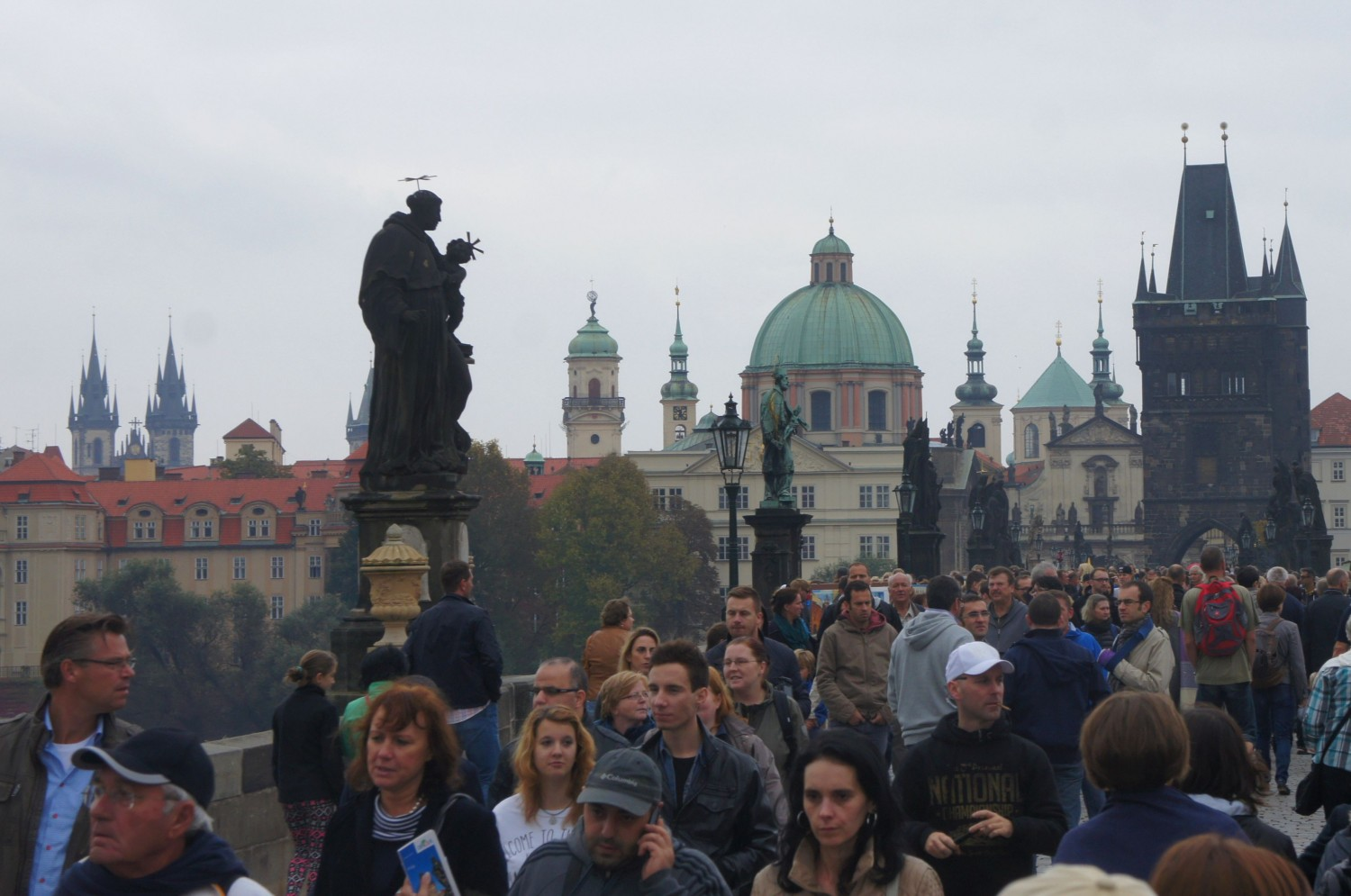 Prague tourist hordes on Charles Bridge - is it sustainable?
