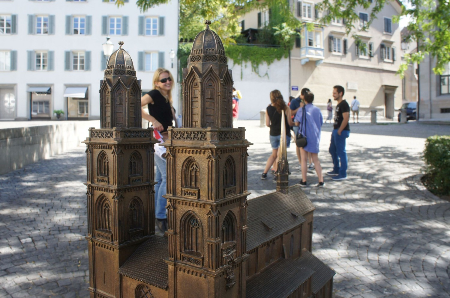 Zürich's Grossmünster Church - in miniature, so that blind people can also 'see' it.