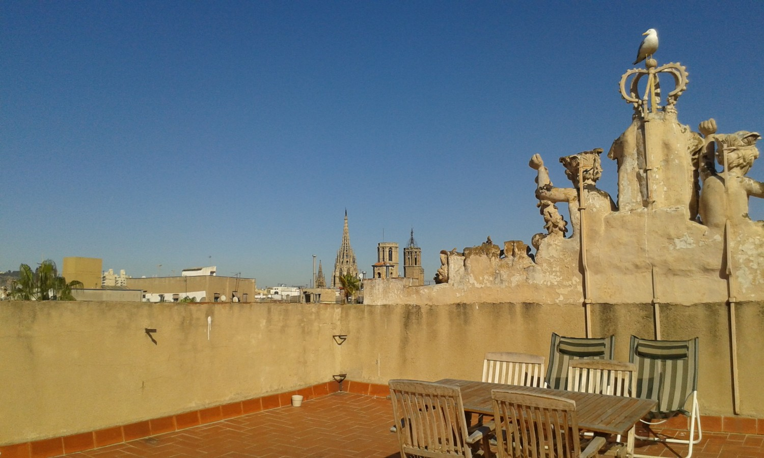 Roof-top distractions at the Impact Hub coworking space in Barcelona.