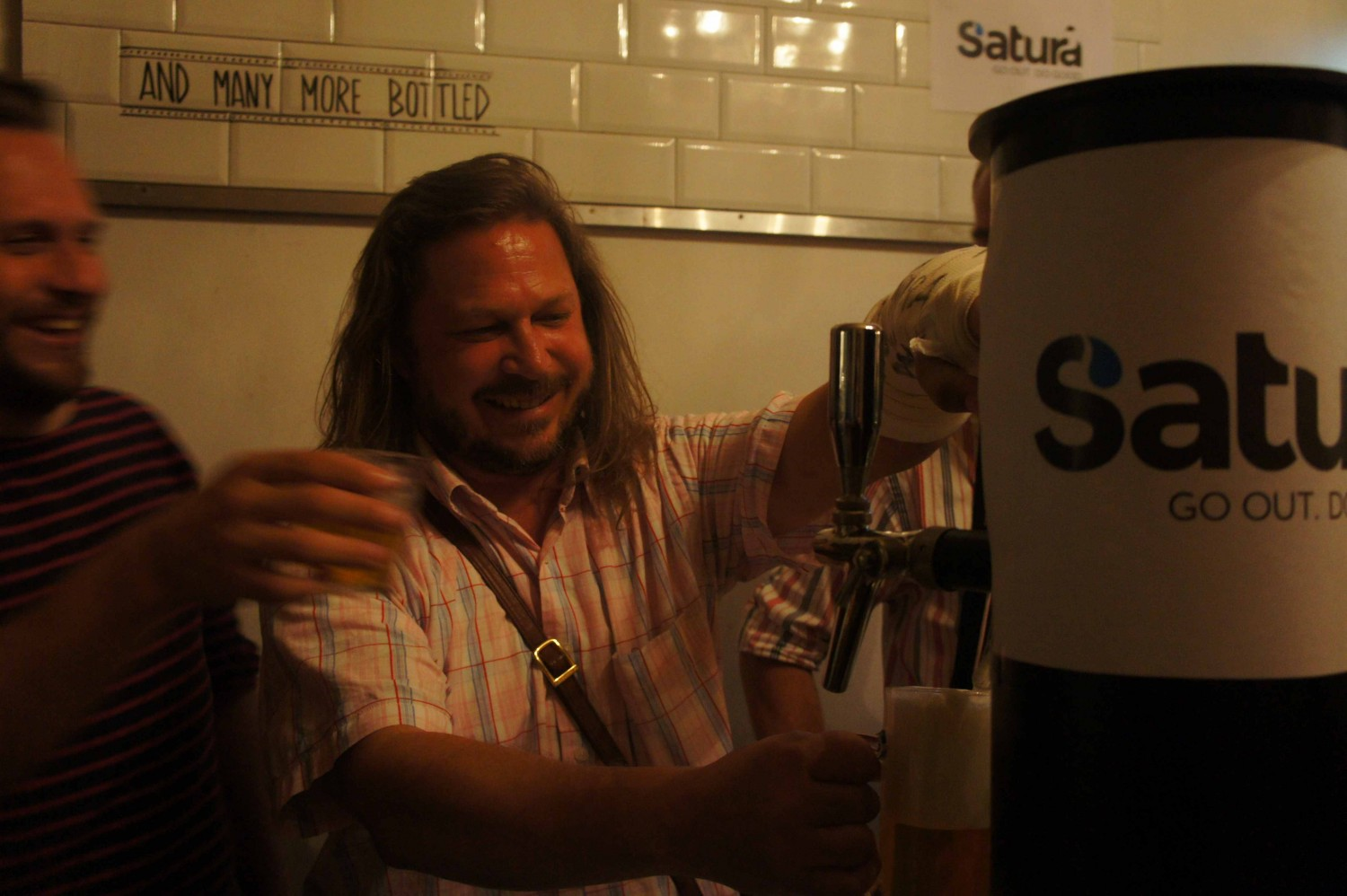 Trent zum Mallen saves some beer behind the Satura bar